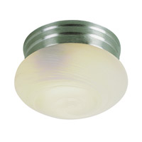 Trans Globe Mushroom 1 Light Flushmount in Brushed Nickel PL-3620-1-BN