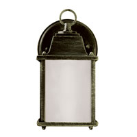 Trans Globe Purisima 1 Light Outdoor Wall Lantern in Verde Green PL-40455-VG