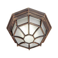 Trans Globe Lighting Energy Efficient 1 Light Outdoor Flush Mount in Rust PL-40582-RT