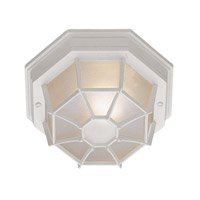 Trans Globe Wagon Wheel 1 Light Flush Mount in White PL-40582-WH