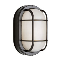 Trans Globe Lighting Energy Efficient 1 Light Bulkhead in Black PL-41015-BK