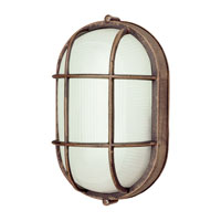 Trans Globe Lighting Energy Efficient 1 Light Outdoor Wall Bulkhead in Rust PL-41015-RT