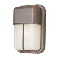 Trans Globe Lighting Energy Efficient Outdoor 1 Light Outdoor Wall Lantern in Rust PL-41103-RT