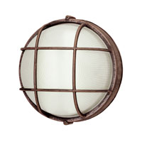Trans Globe Lighting Energy Efficient 1 Light Outdoor Wall Bulkhead in Rust PL-41515-RT