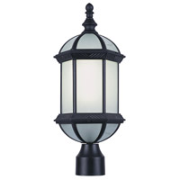 Trans Globe Signature 1 Light Post Lantern in Black PL-4186-BK