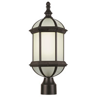 Trans Globe Signature 1 Light Post Lantern in Rust PL-4186-RT