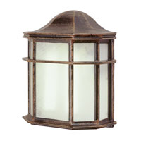 Trans Globe Lighting The Standard 1 Light Outdoor Pocket Lantern in Rust 4484-RT