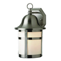 Trans Globe Pub 1 Light Outdoor Wall Lantern in Brushed Nickel PL-4581-BN