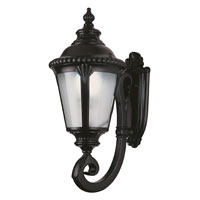 Trans Globe Stonebridge 1 Light Outdoor Wall Lantern in Black PL-5040-BK