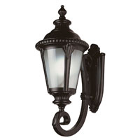 Trans Globe Stonebridge 1 Light Outdoor Wall Lantern in Black PL-5041-BK