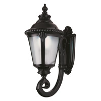 Trans Globe Stonebridge 1 Light Outdoor Wall Lantern in Black PL-5042-BK