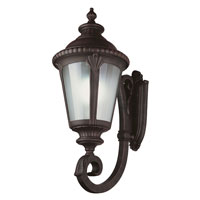 Trans Globe Lighting Energy Efficient 1 Light Outdoor Wall Lantern in Rust PL-5042-RT