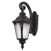 Trans Globe Lighting Estate 1 Light Outdoor Wall Lantern in Black 5043-BK