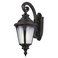 Trans Globe Lighting Estate 1 Light Outdoor Wall Lantern in Black 5043-BK photo thumbnail