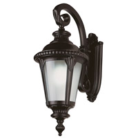 Trans Globe Stonebridge 1 Light Outdoor Wall Lantern in Black PL-5045-BK