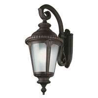 Trans Globe Lighting Energy Efficient 1 Light Outdoor Wall Lantern in Rust PL-5045-RT