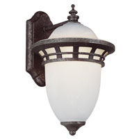 Bristol 1 Light 12 inch Antique Pewter Outdoor Wall Lantern