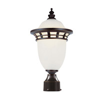 Trans Globe Bristol 1 Light Post Lantern in Bronze PL-5112-BZ
