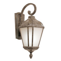 Trans Globe Lighting Energy Efficient 1 Light Outdoor Wall Lantern in Burnished Rust PL-5150-BRT