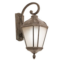 Trans Globe Lighting Energy Efficient 1 Light Outdoor Wall Lantern in Burnished Rust PL-5151-BRT