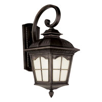 Trans Globe Lighting Energy Efficient 1 Light Outdoor Wall Lantern in Antique Rust PL-5420-AR