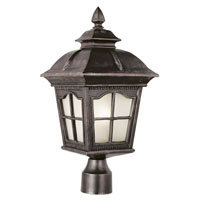 Trans Globe Lighting Energy Efficient 1 Light Post Lantern in Antique Rust PL-5422-AR