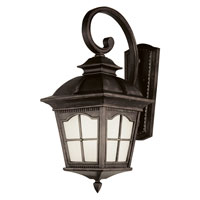 Trans Globe Lighting Energy Efficient 1 Light Outdoor Wall Lantern in Antique Rust PL-5424-AR
