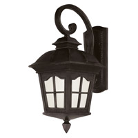 Trans Globe Chesapeake 1 Light Outdoor Wall Lantern in Black PL-5424-BK