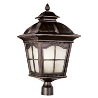 Trans Globe Lighting Energy Efficient 1 Light Post Lantern in Antique Rust PL-5425-AR