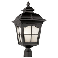 Trans Globe Chesapeake 1 Light Post Lantern in Black PL-5425-BK