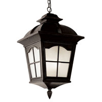 Trans Globe Chesapeake 1 Light Outdoor Hanging Lantern in Black PL-5426-BK