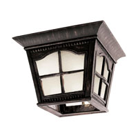 Trans Globe Lighting Energy Efficient 1 Light Outdoor Flush Mount in Antique Rust PL-5427-AR