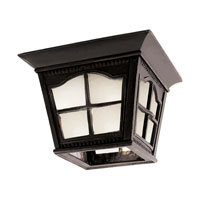 Trans Globe Lighting Energy Efficient 1 Light Outdoor Flush Mount in Antique Rust PL-5427-BK