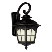 Trans Globe Chesapeake 1 Light Outdoor Wall Lantern in Black PL-5429-BK