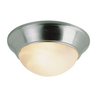 Trans Globe Signature 1 Light Flush Mount in Brushed Nickel PL-57700-BN