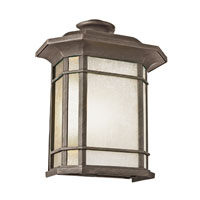 Corner Window 1 Light 15 inch Rust Outdoor Pocket Lantern
