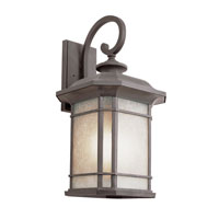 Trans Globe Lighting Energy Efficient Outdoor 1 Light Outdoor Wall Lantern in Rust PL-5822-RT