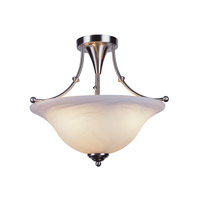 Trans Globe Payson 3 Light Semi-Flush Mount in Brushed Nickel PL-6540-BN