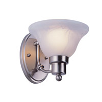 Trans Globe Payson 1 Light Wall Sconce in Brushed Nickel PL-6541-BN
