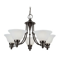 Trans Globe Payson 5 Light Chandelier in Weathered Bronze PL-6545-WB
