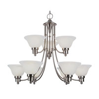 Trans Globe Lighting Energy Efficient Indoor 9 Light Chandelier in Brushed Nickel PL-6549-BN