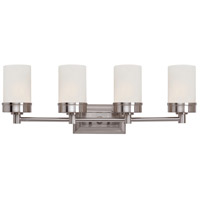 Fusion 4 Light 28 inch Brushed Nickel Vanity Bar Wall Light