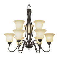 Trans Globe Lighting Energy Efficient Indoor 9 Light Chandelier in Rubbed Oil Bronze PL-8169-ROB