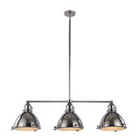 Trans Globe Vintage 3 Light Island Pendant in Polished Nickel PND-1007-PN