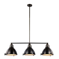 Signature 3 Light 46 inch Weathered Bronze Island Pendant Ceiling Light