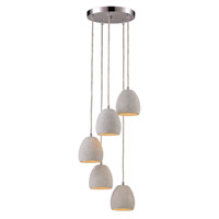 Signature 5 Light 10 inch Polished Chrome Pendant Ceiling Light
