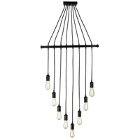 Trans Globe Lighting PND-1043 Signature 8 Light 28 inch Black Pendant Ceiling Light