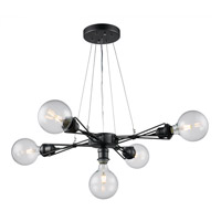 Galveston 5 Light 25 inch Dark Bronze Pendant Ceiling Light