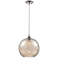 Riverstone 1 Light 12 inch Polished Chrome Pendant Ceiling Light