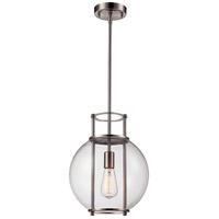 Grove 1 Light 12 inch Brushed Nickel Pendant Ceiling Light
